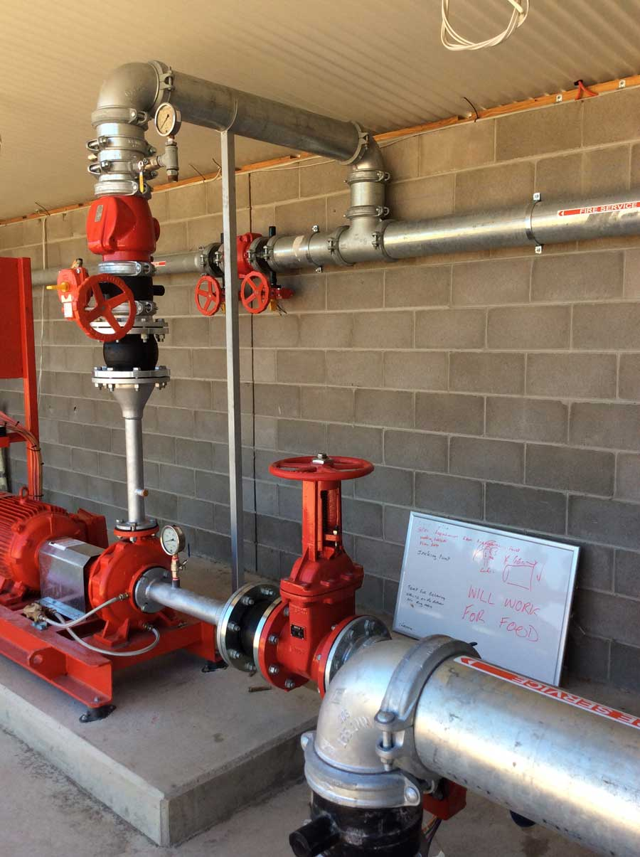 large red pipes