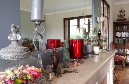 The salon fireplace