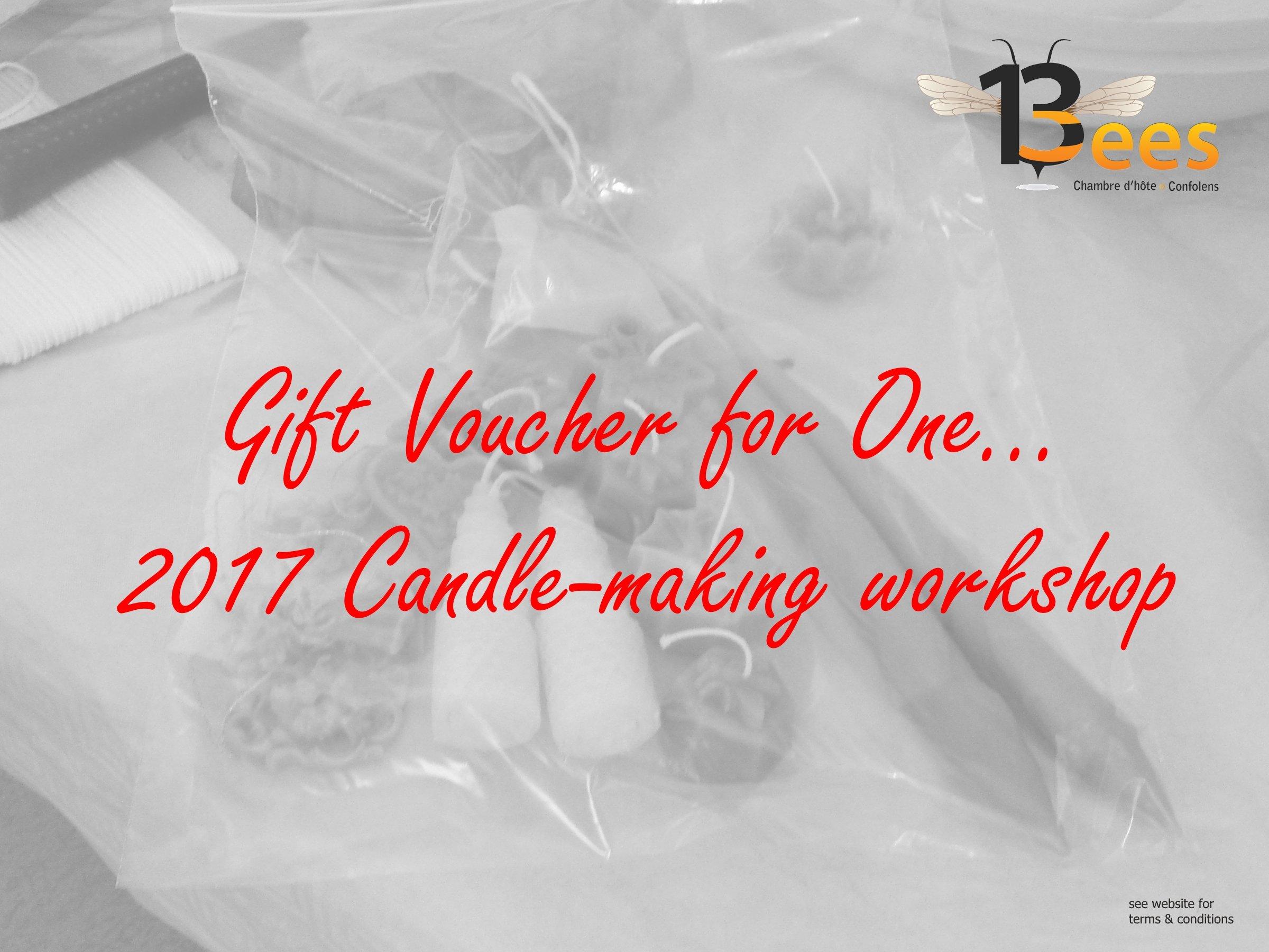 candle making workshop Christmas voucher