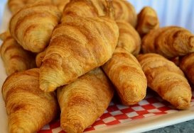 Yummy fresh croissants