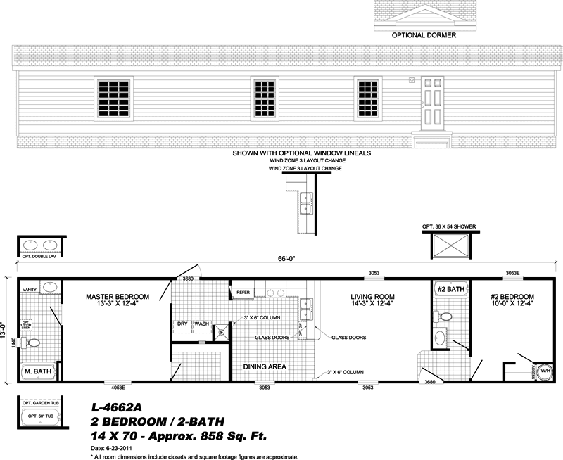 L 4662a modular homes pensacola gulf breeze milton for Mobile home floor plans florida