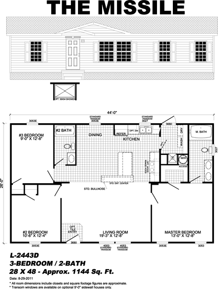 The Missile - manufactured home floor plan
