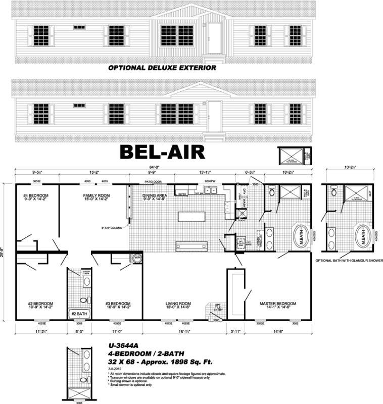Bel-Air manufactured home floor plan - Fort Walton Beach, FL