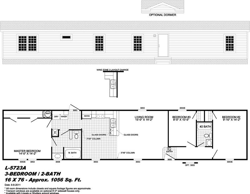prefabricated manufactured home floor plan - Fort Walton Beach, FL