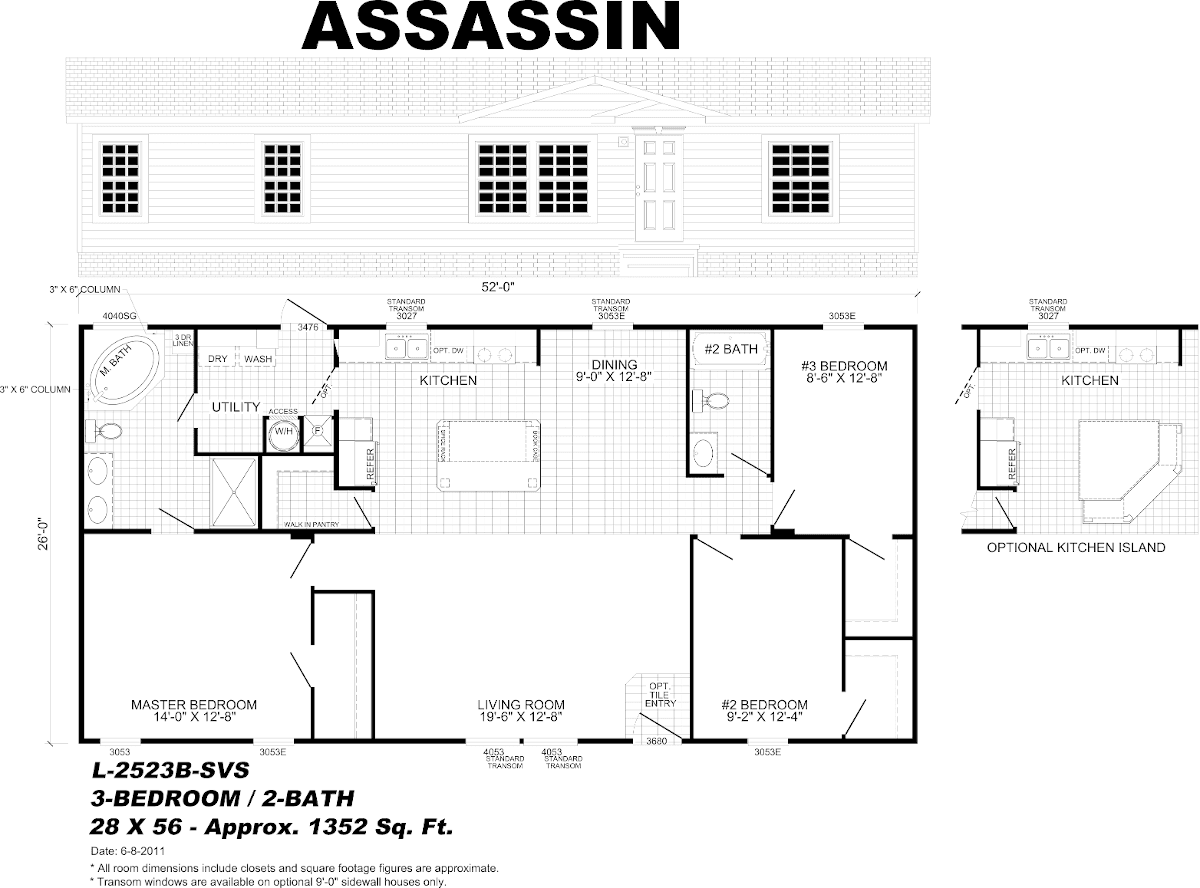 Assassin modular home floor plan gulf breeze pensacola for Mobile home floor plans florida