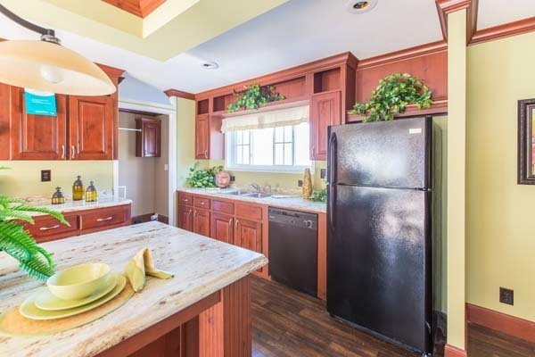 kitchen in a manufactured home - Milton, FL