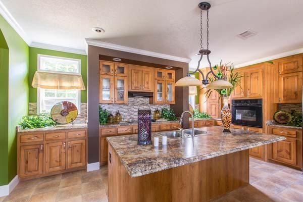 kitchen in a prefabricated home - Milton, FL