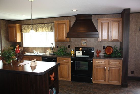 kitchen in prefabricated home - Milton, FL