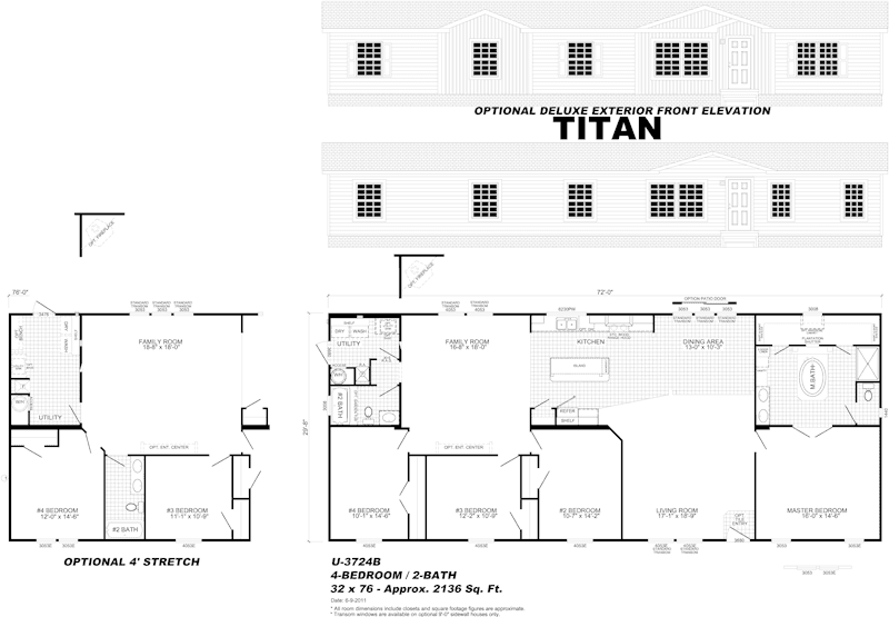 Titan - prefabricated home floor plan - Pensacola, FL