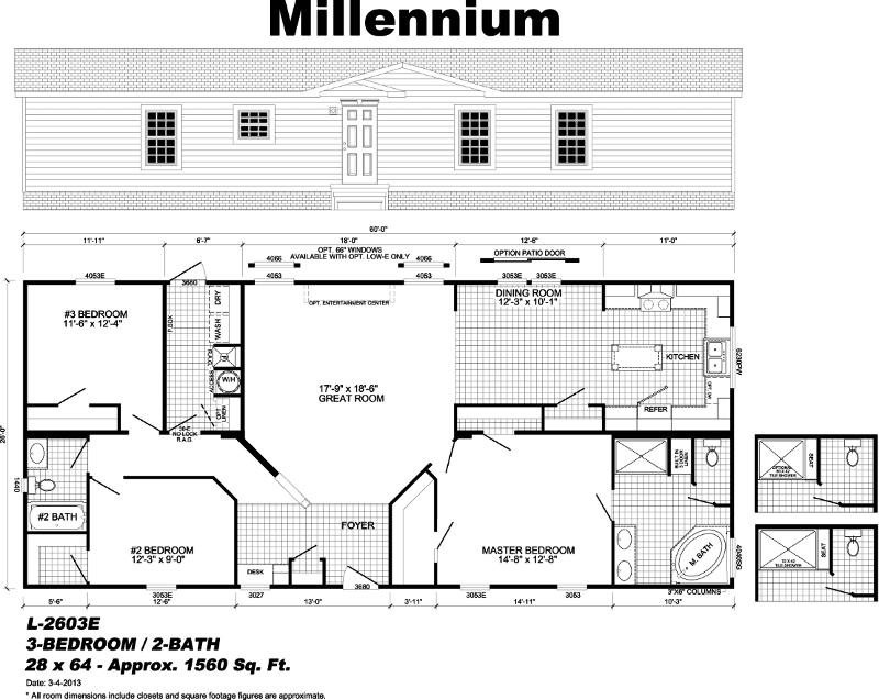 Millennium - manufactured home floor plan