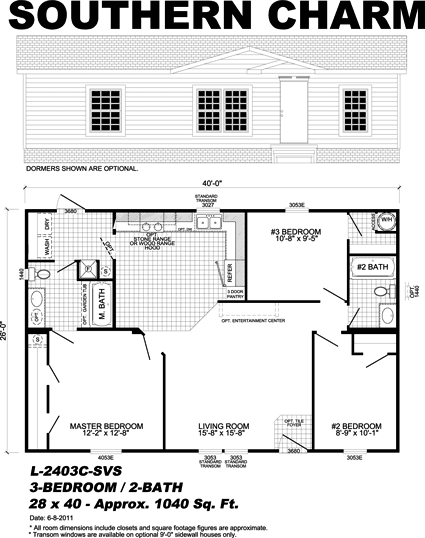 Southern Charm - manufactured home floor plan