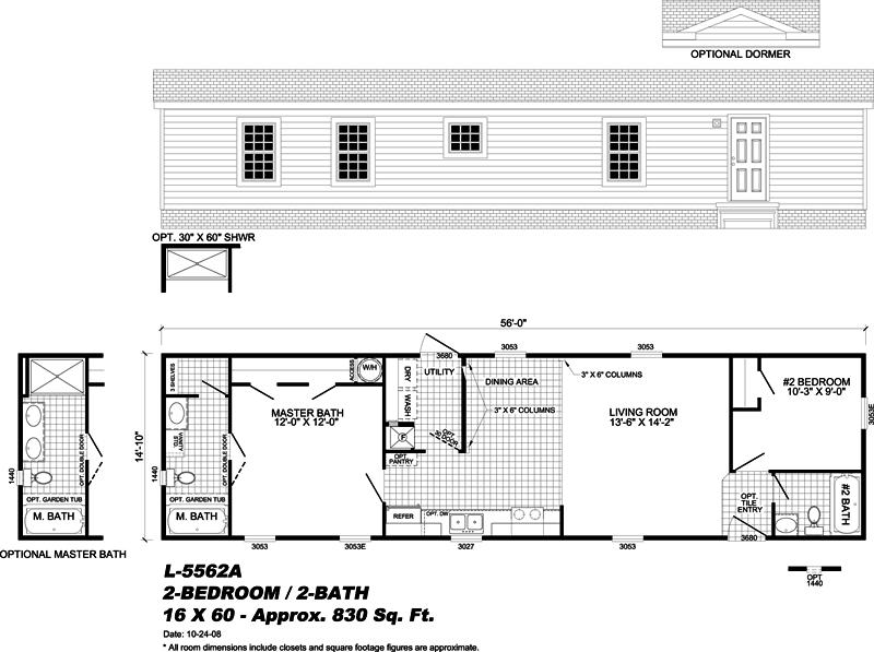 manufactured home floor plan - Gulf Breeze, FL