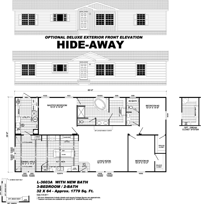 floor plan for manufactured home - Pensacola, FL