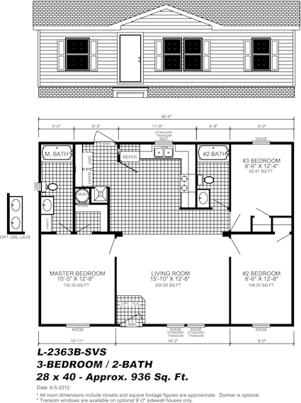manufactured home floor plan - Pensacola, FL
