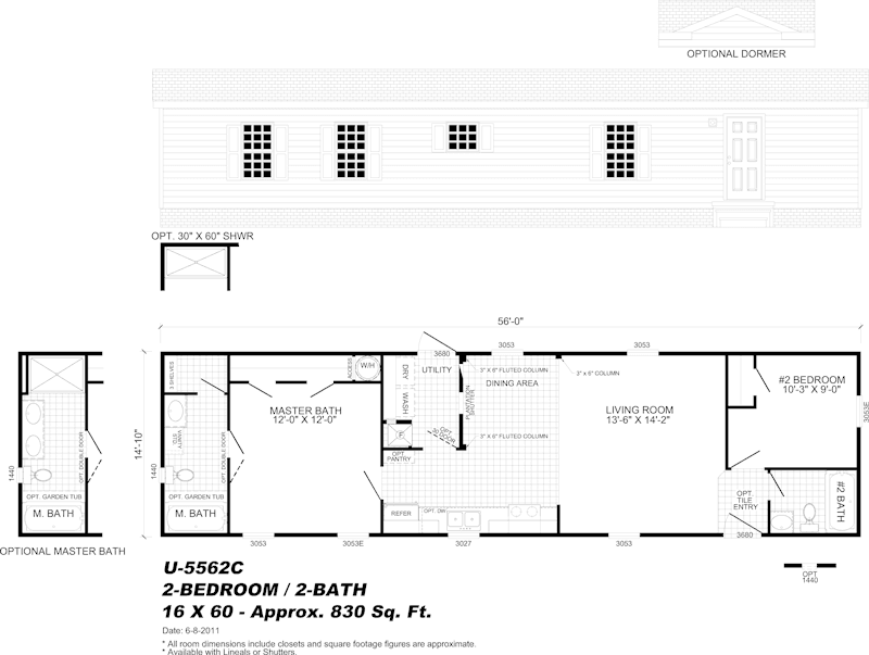 manufactured home floor plan - Milton, FL