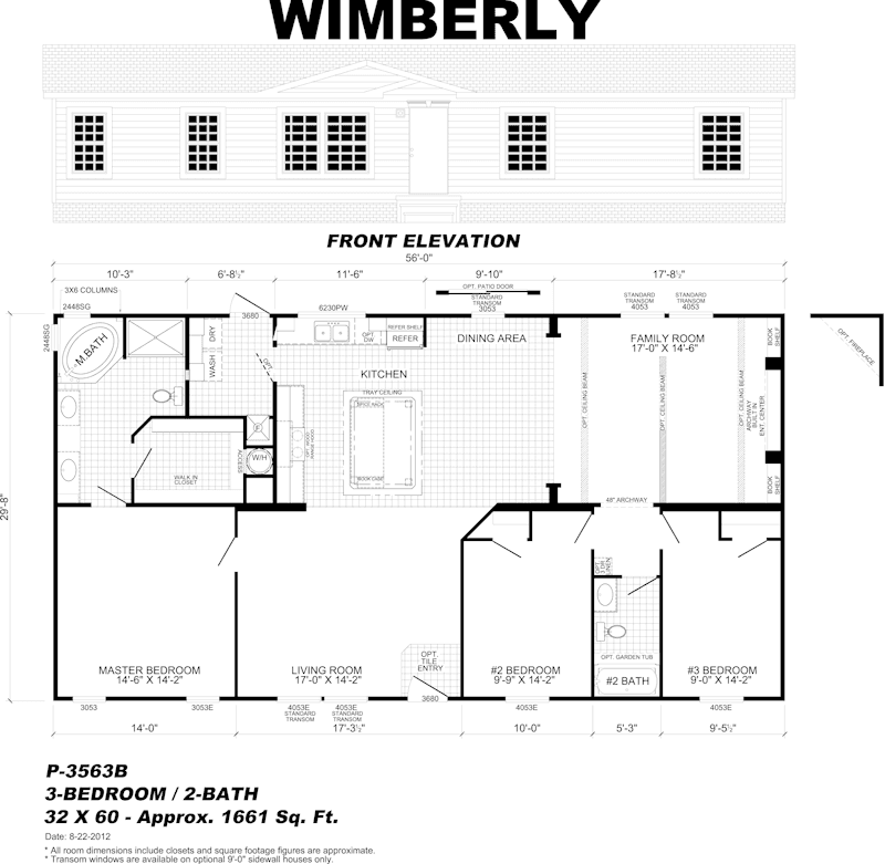 prefabricated manufactured home floor plan - Pensacola, FL
