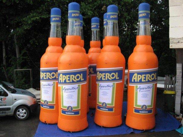 Napihljivi izdelki po naročilu - Aperol steklenice