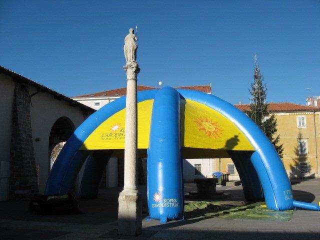 Napihljiv reklamni šotor Mestna Občina Koper