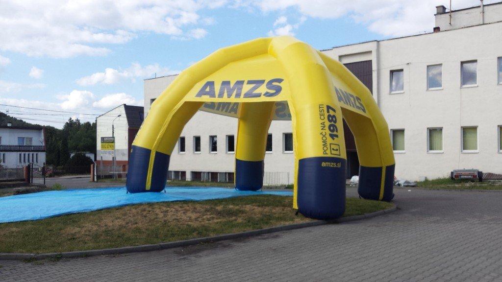 Napihljiv reklamni šotor AMZS
