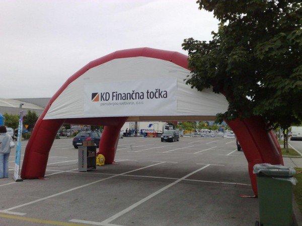 Napihljiv reklamni šotor KD