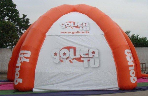 Napihljiv reklamni šotor Radio Golica