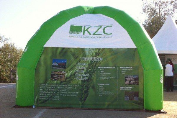 Napihljiv reklamni šotor KZC