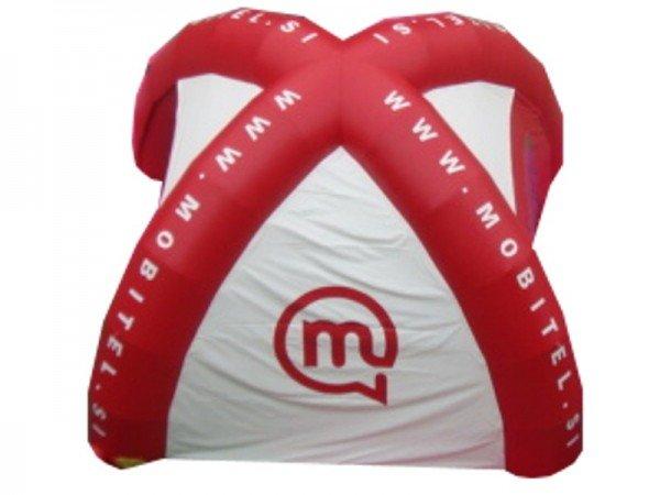 Napihljiv reklamni šotor Mobitel