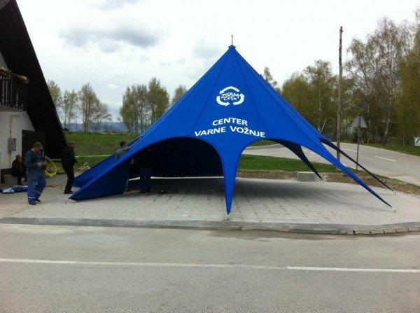 Zložljiv zvezdasti šotor Center Varne Vožnje ZŠAM
