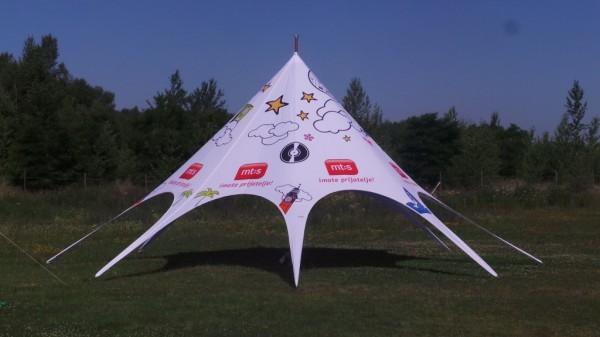 Zložljiv zvezdasti šotor