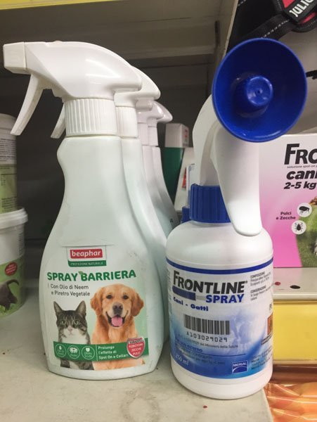 spray FRONTLINE e BARRIERA