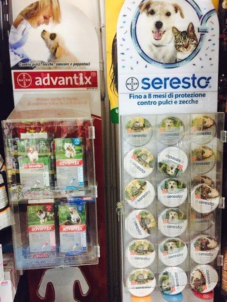 antipulci e antizecche a marchio ADVANTIX e SERESTO