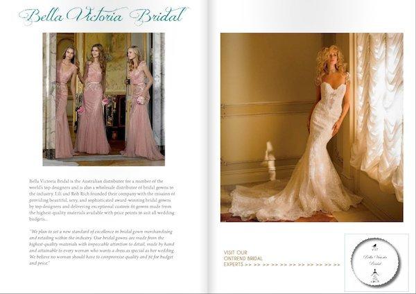 Bella Victoria Bridal Featured in Ontrend Bridal Magazine