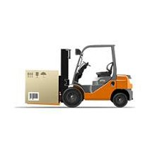industrial licencing solutions forklift vector