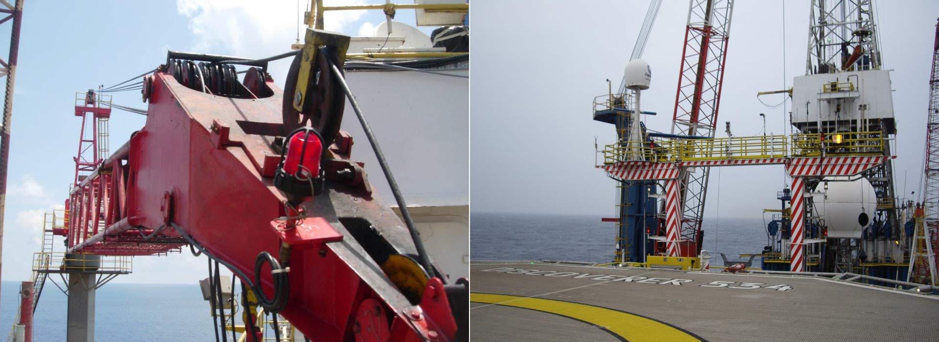industrial licencing solutions off shore rig in sea