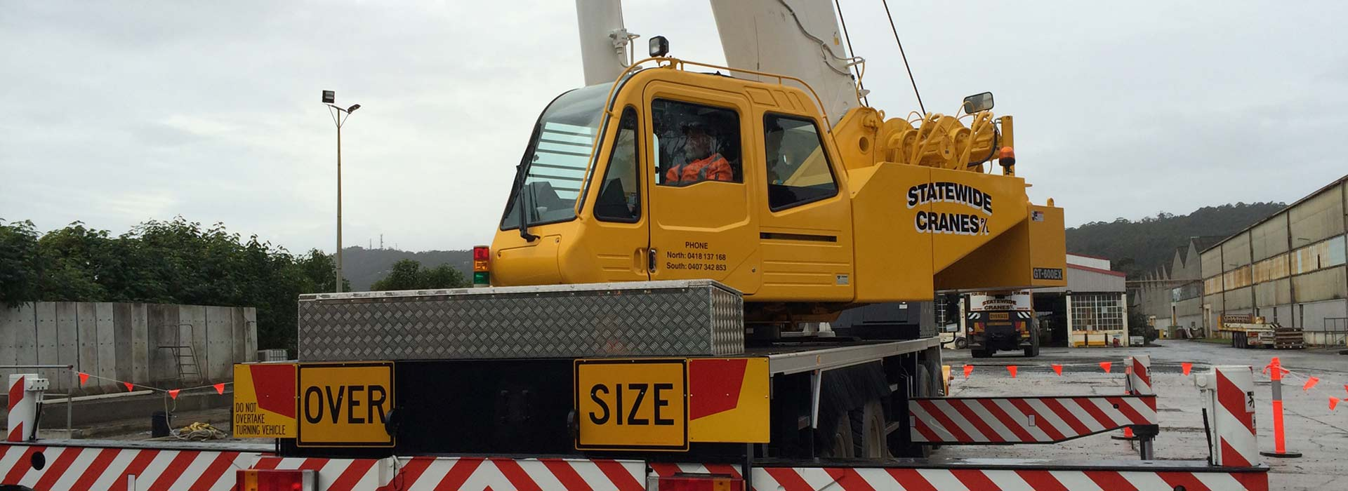 industrial licencing solutions over size crane