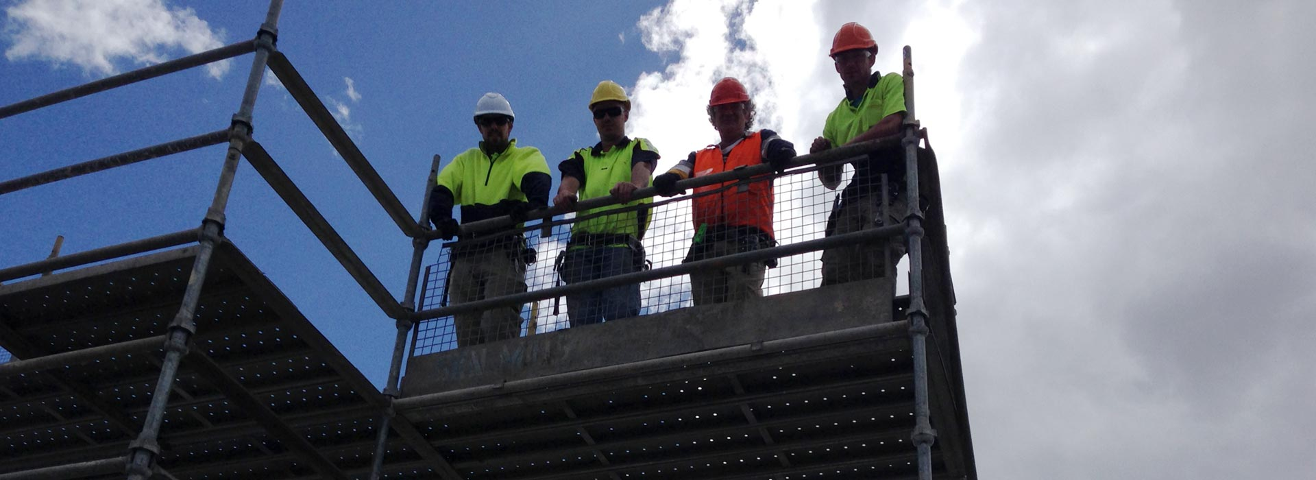 industrial licencing solutions scaffolding workers standing