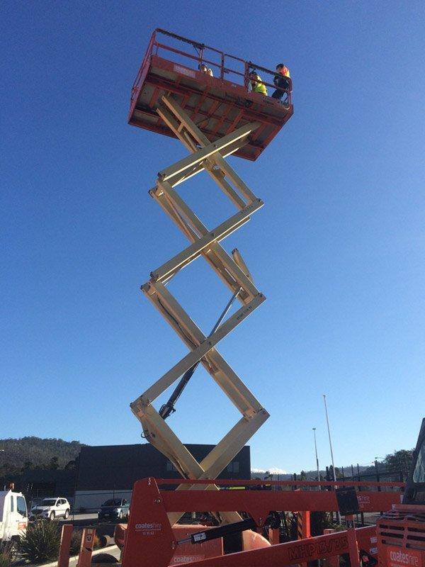 industrial licencing solutions scissor lift crane