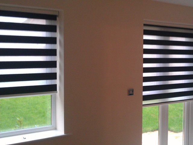 stripped blinds
