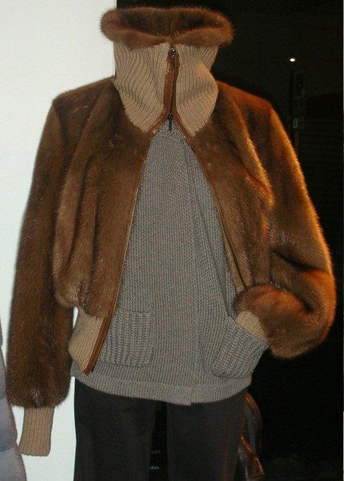 Pelliccia con collo in lana