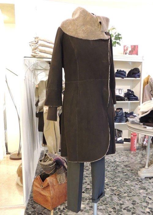 Cappotto lungo marrone