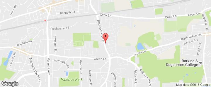 Carpets - Dagenham - The Fitted Carpet Company Ltd - Map