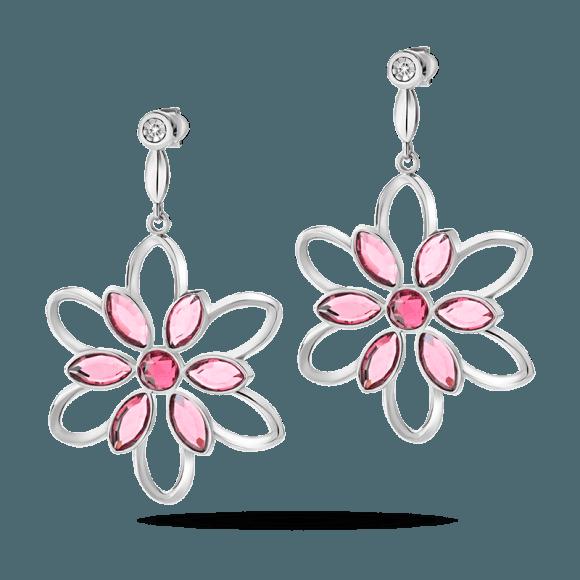 orecchini a fiore rosa