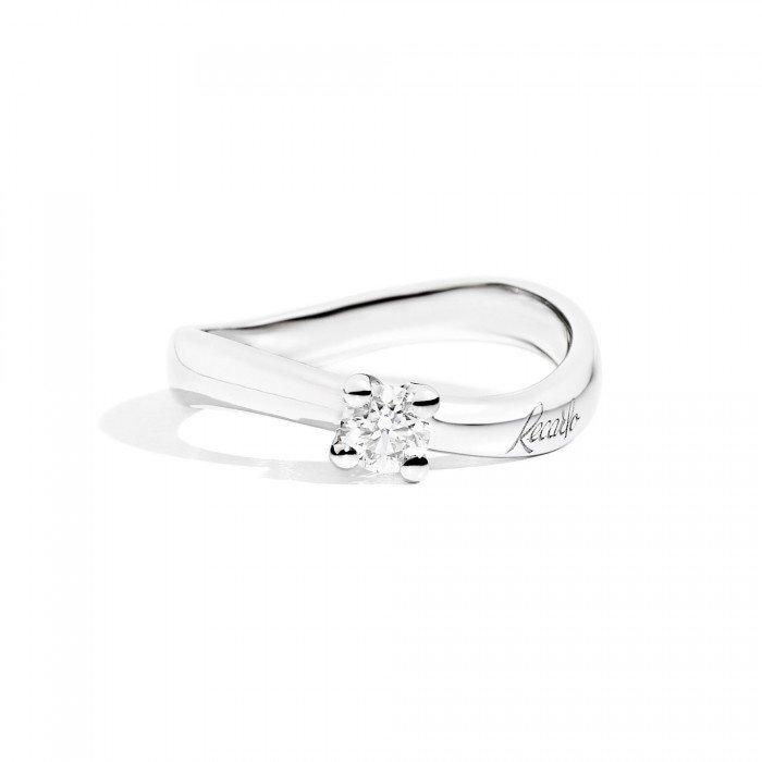 anello con onda e brillantino