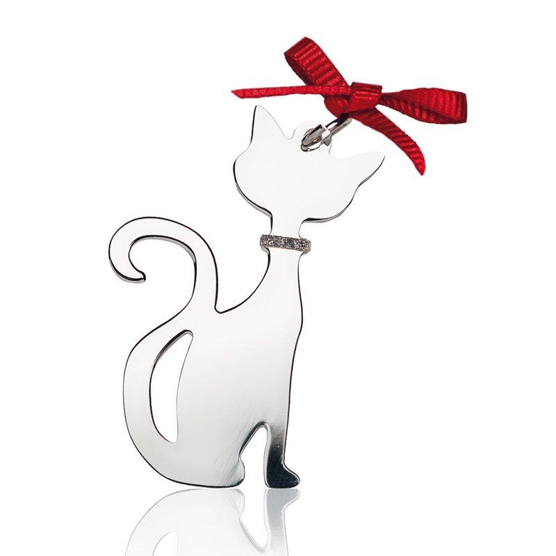medaglietta a forma di gatto