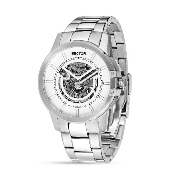 orologio in acciaio sector