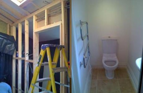 Bathroom under construction