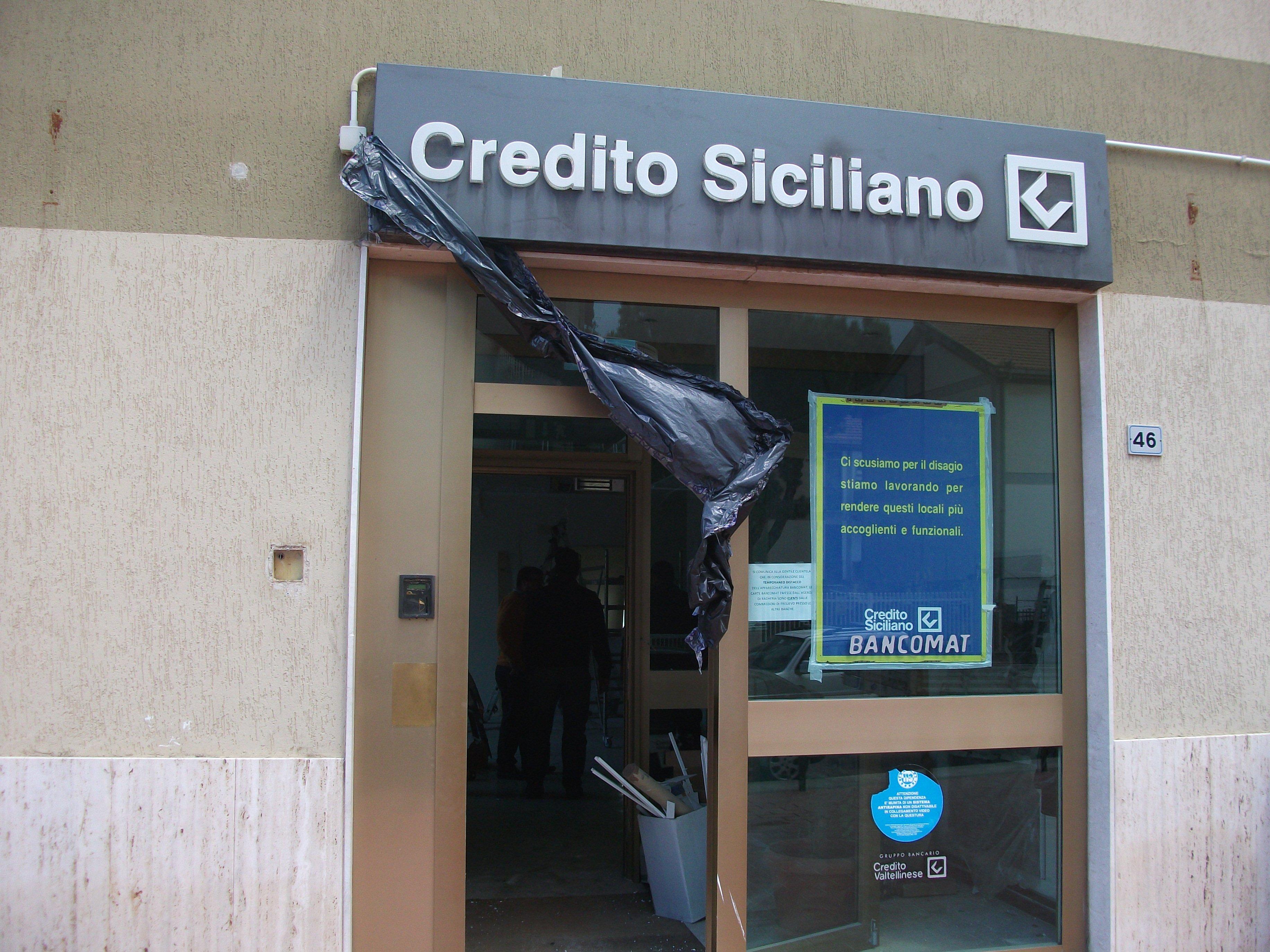 ingresso banca Credito Siciliano