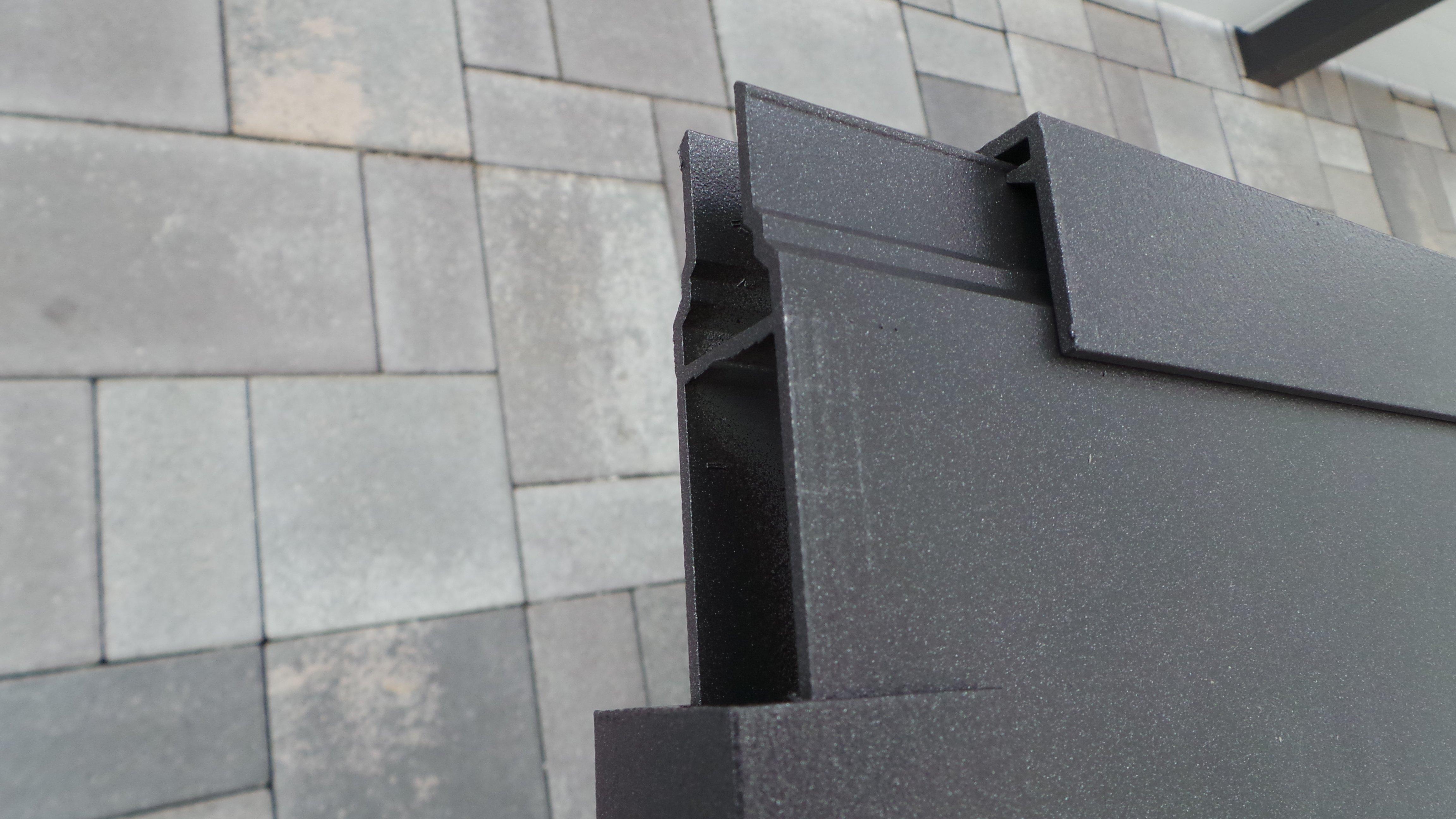 Alu Vordach mit Seitenwände 8mm VSG