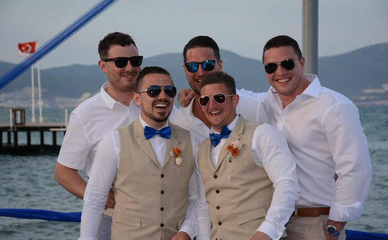 bridegroom with his friends