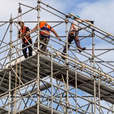 scaffolding work in progress